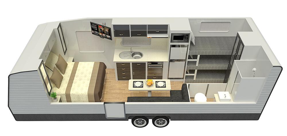 21'6ft Platinum Signature Off Road Floor Plan