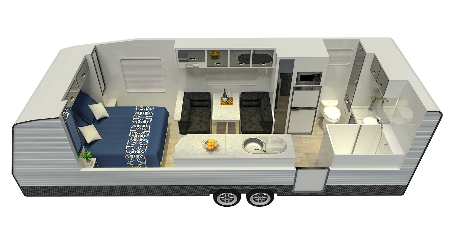 21ft Platinum Signature Off Road Floor Plan